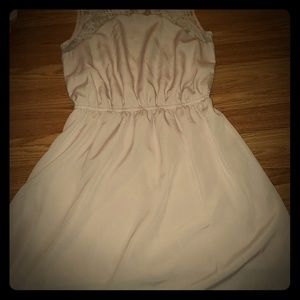 H&m pink vintage looking dress with lace